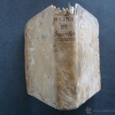 Libros antiguos: 'INSTRUCCION DE SACERDOTES' POR ANTONIO DE MOLINA. MADRID 1792. PERGAMINO. Lote 48436943