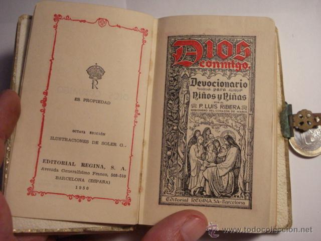 Libros antiguos: DEVOCIONARIO PARA NIÑOS - DIOS CONMIGO - PRIMERA COMUNION - AÑO 1950 - Foto 3 - 48590687