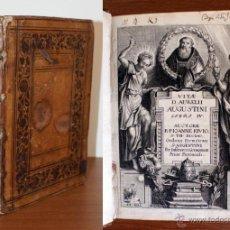 Libros antiguos: AÑO 1646. LIBRO SIGLO XVII. VITAE D. AURELII AUGUSTINI. PRECIOSA ENCUADERNACIÓN. Lote 48782371