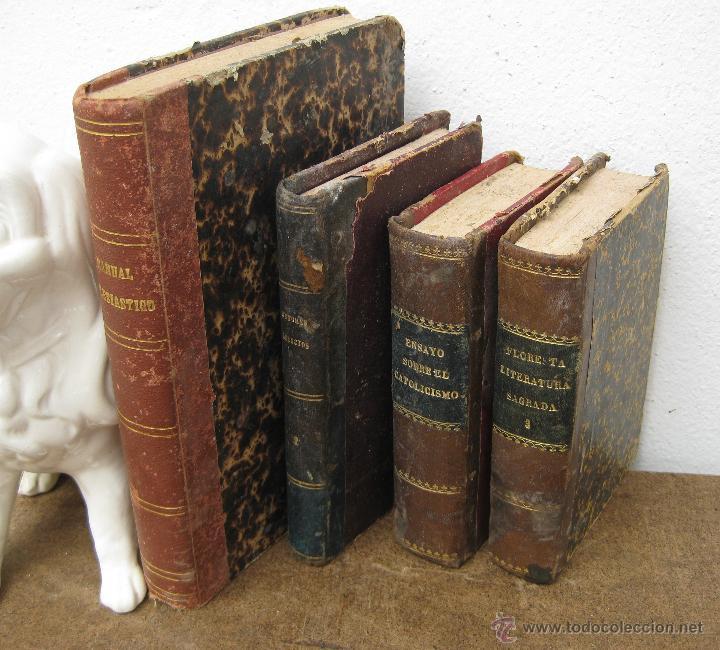 Lote libros antiguos s xix religion ideal deco comprar - Libros antiguos para decoracion ...