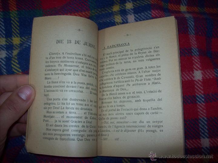 Libros antiguos: RECORDATORI PELEGRINACIÓ MALLORQUINA A LOURDES. S.G.í S. 1908.EXTRAORDINARI EXEMPLAR.UNA JOIA.FOTOS - Foto 4 - 49263559