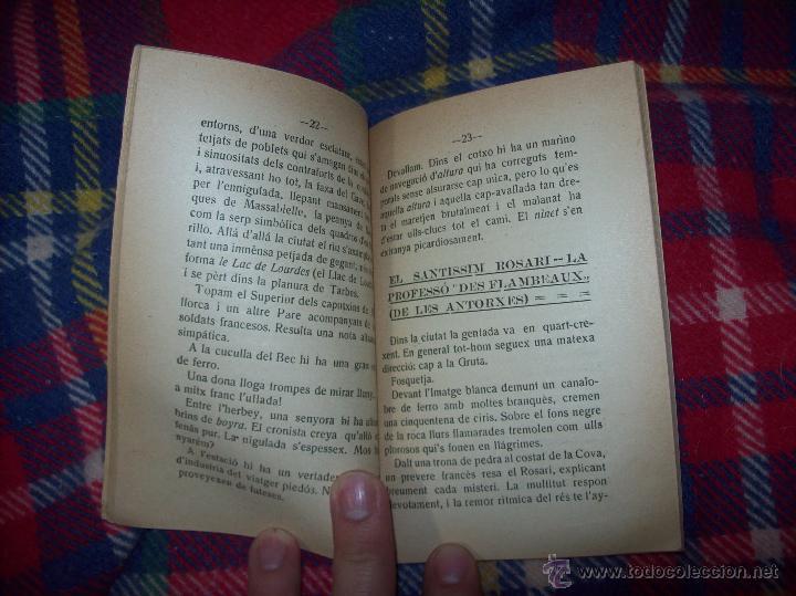 Libros antiguos: RECORDATORI PELEGRINACIÓ MALLORQUINA A LOURDES. S.G.í S. 1908.EXTRAORDINARI EXEMPLAR.UNA JOIA.FOTOS - Foto 5 - 49263559