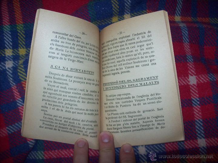 Libros antiguos: RECORDATORI PELEGRINACIÓ MALLORQUINA A LOURDES. S.G.í S. 1908.EXTRAORDINARI EXEMPLAR.UNA JOIA.FOTOS - Foto 6 - 49263559