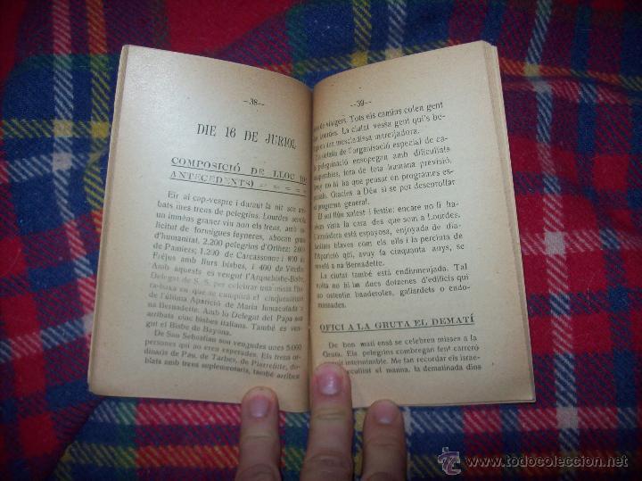 Libros antiguos: RECORDATORI PELEGRINACIÓ MALLORQUINA A LOURDES. S.G.í S. 1908.EXTRAORDINARI EXEMPLAR.UNA JOIA.FOTOS - Foto 7 - 49263559