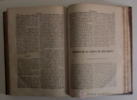 Libros antiguos: ESCALA DEL PULPITO OSEA COLECCION DE SERMONES - DON DOMINGO DIEZ - LOGROÑO AÑO 1870 - Foto 6 - 50038002