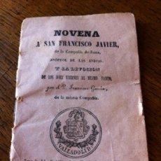 Libros antiguos: NOVENA A SAN FRANCISCO JAVIER , 1892.. Lote 50038239