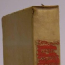 Libros antiguos: ANTIGUO TESTAMENTO. SAGRADA BIBLIA. DE LA VULGATA LATINA AL ESPAÑOL). MADRID 1824.. Lote 50111159
