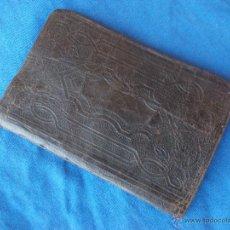 Libros antiguos: LIBRITO DE ORACIONES PARA HACER LA VISITA Y OTRAS ... ( 1874 ) - PIEL REPUJADA MARRON OSCURO -. Lote 50159580