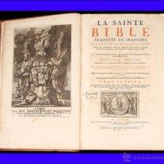 """Libros antiguos: : BIBLIA, 1703. ESCRITA EN FRANCÉS. """"LA SAINTE BIBLE TRADUITE EN FRANÇOIS"""".. Lote 50182959"""