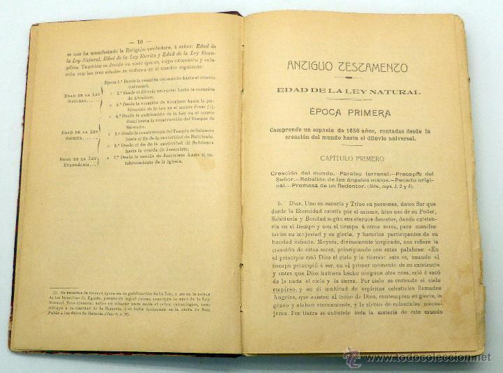 Libros antiguos: Historia Religión Extractada Sagradas Escrituras Luis García Bello y Calleja Imp Rafael Gómez 1913 - Foto 2 - 222736923