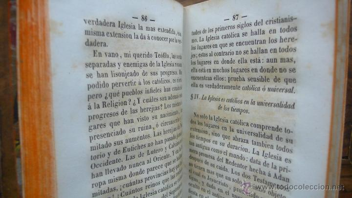 Libros antiguos: TRATADO DE LAS NOTAS DE LA IGLESIA, CON PASAJES HISTÓRICOS... DIVINIDAD DE LA IGLESIA ROMANA, 1850. - Foto 4 - 50610066