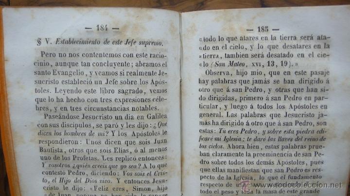 Libros antiguos: TRATADO DE LAS NOTAS DE LA IGLESIA, CON PASAJES HISTÓRICOS... DIVINIDAD DE LA IGLESIA ROMANA, 1850. - Foto 5 - 50610066