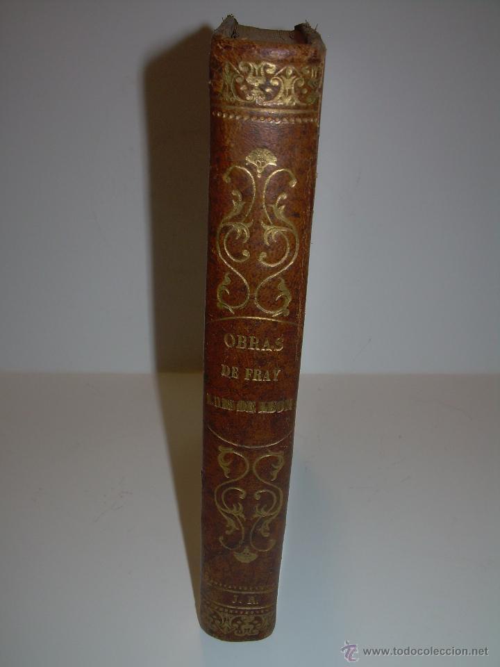 Libros antiguos: LIBRO TAPAS DE PIEL...OBRAS SELECTAS DE ...FRAY LUIS DE LEON......AÑO..1.868 - Foto 4 - 50622905