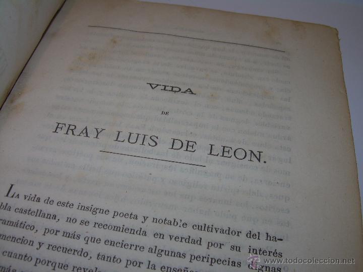 Libros antiguos: LIBRO TAPAS DE PIEL...OBRAS SELECTAS DE ...FRAY LUIS DE LEON......AÑO..1.868 - Foto 5 - 50622905
