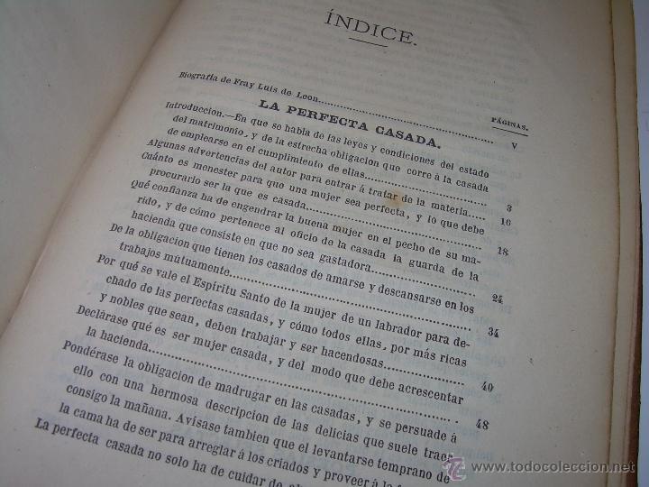 Libros antiguos: LIBRO TAPAS DE PIEL...OBRAS SELECTAS DE ...FRAY LUIS DE LEON......AÑO..1.868 - Foto 8 - 50622905