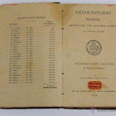 Libros antiguos: MIS-20. DEVOCIONARIO MANUAL. 1898.. Lote 51062011