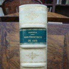 Libros antiguos: SAN FRANCISCO DE ASÍS. CON AGUAFUERTES DE BENITO BARRUETA. 1929. ED. 200 EJEMPLARES (112/200).. Lote 51143437