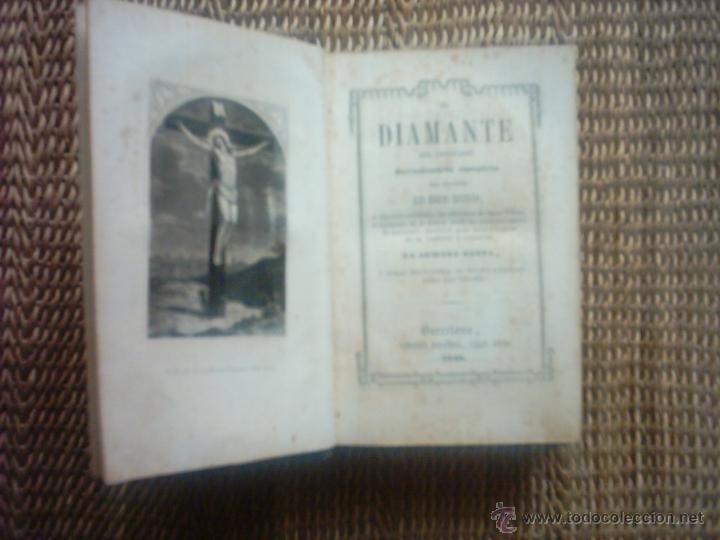 Libros antiguos: EL DIAMANTE DEL CRISTIANO. Devocionario completo. 1849. ILUSTRADO CON 22 GRABADOS. - Foto 3 - 51178610