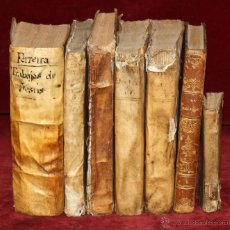 Alte Bücher - LOTE DE 6 LIBROS ANTIGUOS DEL SIGLO XVIII, 5 DE ELLOS EN PERGAMINO - 55354501