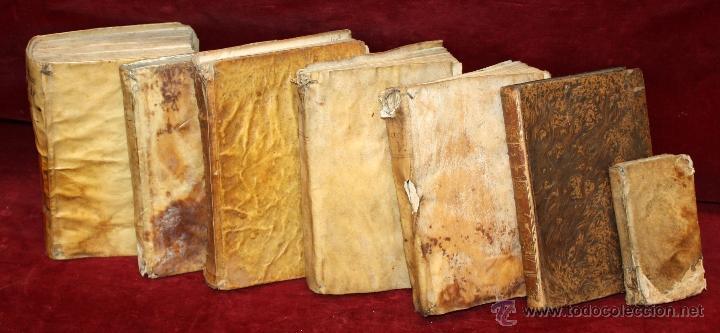 Libros antiguos: LOTE DE 6 LIBROS ANTIGUOS DEL SIGLO XVIII, 5 DE ELLOS EN PERGAMINO - Foto 24 - 55354501
