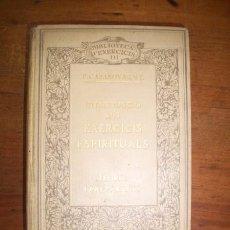 Libros antiguos: CASANOVAS, IGNASI. INTRODUCCIÓ ALS EXERCICIS ESPIRITUALS DE SANT IGNASI DE LOYOLA : TEORIA I PREPAR. Lote 51271543