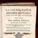 Libros antiguos: LA VOZ DEL PASTOR DISCURSOS FAMILIARES DEL SEÑOR REGUIS CURA DE AUXERRE DE 1773. Lote 51286605
