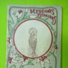 Libros antiguos: DEVOCIONES ESCOGIDAS NOVENA DE NUESTRA SEÑORA DEL PILAR CALLEJA 1915. Lote 51440865