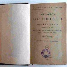 Libros antiguos: IMITACION DE CRISTO. TOMAS KEMPIS. TRADUCCION JUAN EUSEBIO NIEREMBERG. MADRID 1931.. Lote 51460918
