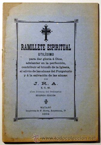 J R A Ramillete Espiritual Matar 243 1902 Comprar