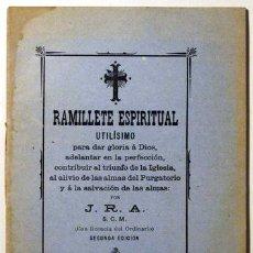 Libros antiguos: J.R.A. - RAMILLETE ESPIRITUAL - MATARÓ 1902. Lote 51413402