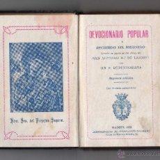 Libros antiguos: DEVOCIONARIO POPULAR RECUERDO DEL MISIONERO, MADRID 1924. Lote 51521805