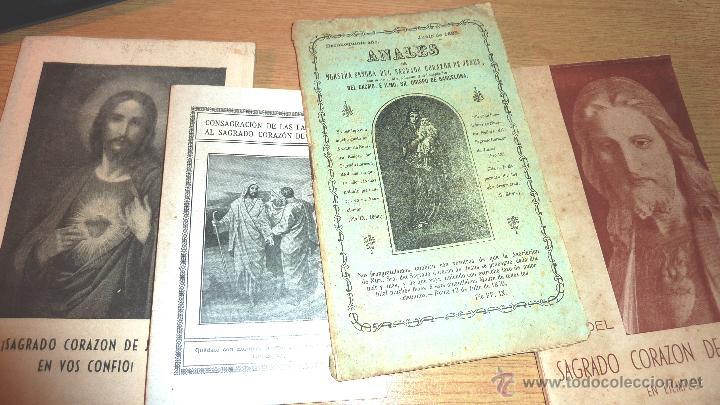 LOTE 4 LIBRO SAGRADO CORAZON DE JESUS ANALES 1885 . COMENTARIOS 1936 SAENZ DE TEJADA MES 1942 (Libros Antiguos, Raros y Curiosos - Religión)