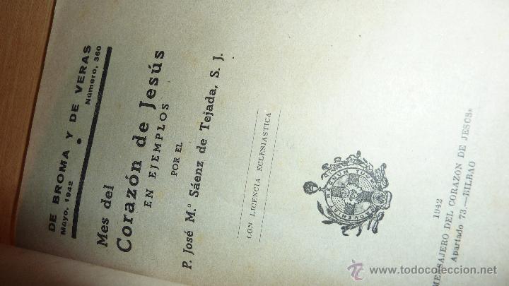 Libros antiguos: lote 4 libro sagrado corazon de jesus anales 1885 . comentarios 1936 saenz de tejada mes 1942 - Foto 2 - 51634301