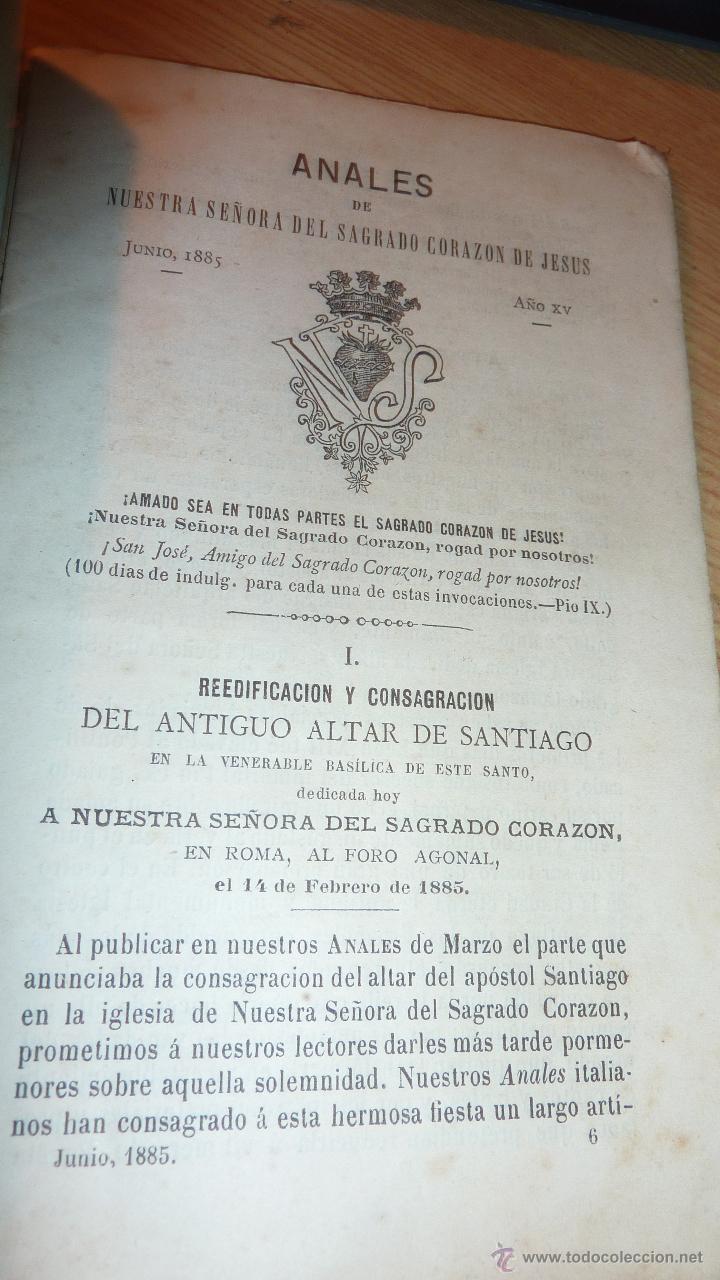 Libros antiguos: lote 4 libro sagrado corazon de jesus anales 1885 . comentarios 1936 saenz de tejada mes 1942 - Foto 3 - 51634301