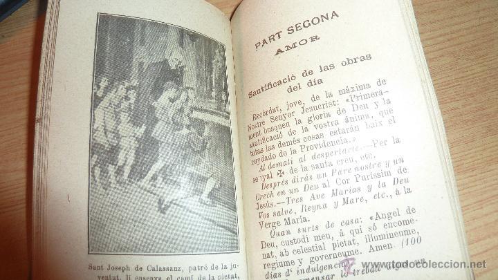 Libros antiguos: jesus el amich dels jovens obrers . ded a san joseph de calassanz 1906 devocionario - Foto 3 - 51675376