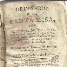 Libros antiguos: ORDINARIO DE LA SANTA MISA. FRANCISCO AMADO POUGET. VALENCIA. 1813. Lote 51682775