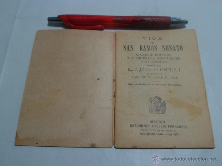 Libros antiguos: Vida de San Ramón Nonato ~ Coleccion Flores Celestes ~ Editorial: Saturnino Calleja - Foto 3 - 52126349