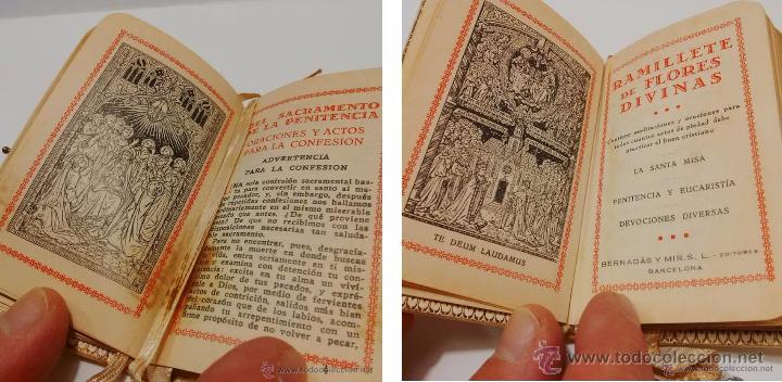 Libros antiguos: ANTIGUO MISAL CON TAPAS ANACARADAS Y MEDALLA DE PLATA CON CONTRASTE 935-AÑO 1.927 - Foto 4 - 46958249