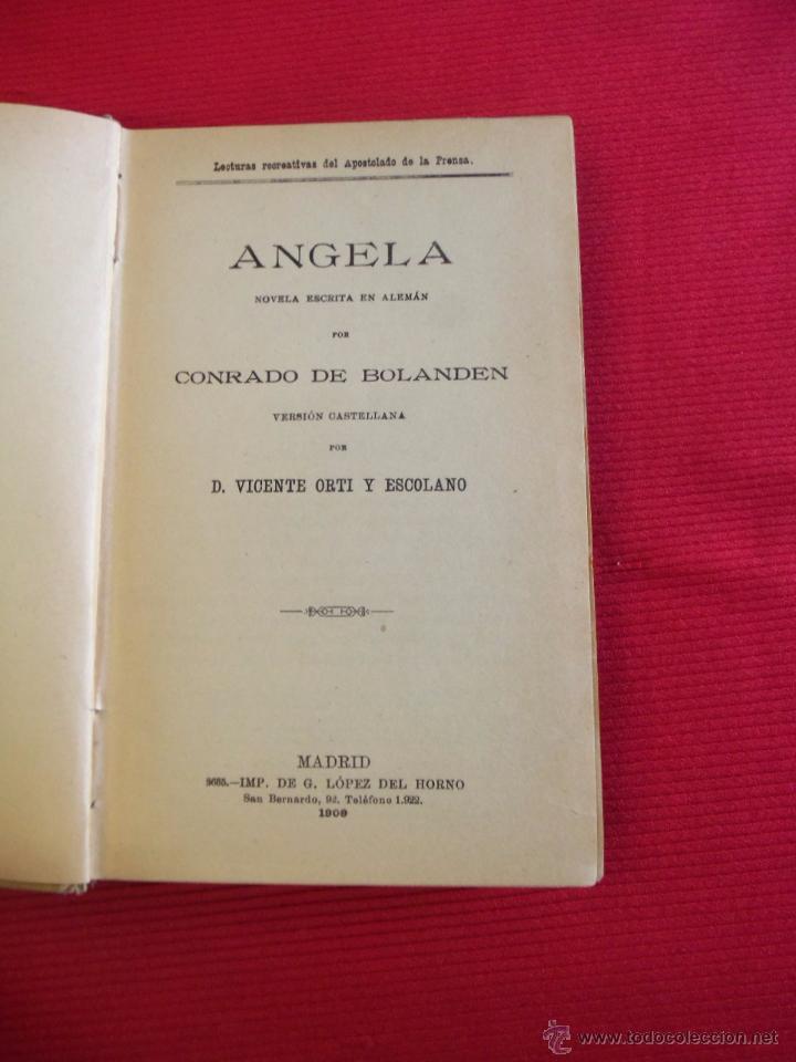 Libros antiguos: ANGELA - CONRADO DE BOLANDEN - D.VICENTE ORTI Y ESCOLANO - Foto 4 - 52424837
