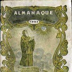 Libros antiguos: ALMANAQUE DE SAN FRANCISCO DE PAULA PARA 1931. Lote 52450418