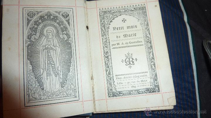 Libros antiguos: pequeño libro petit mois de marie mes de maria . gentelles 1893 - Foto 2 - 52563019