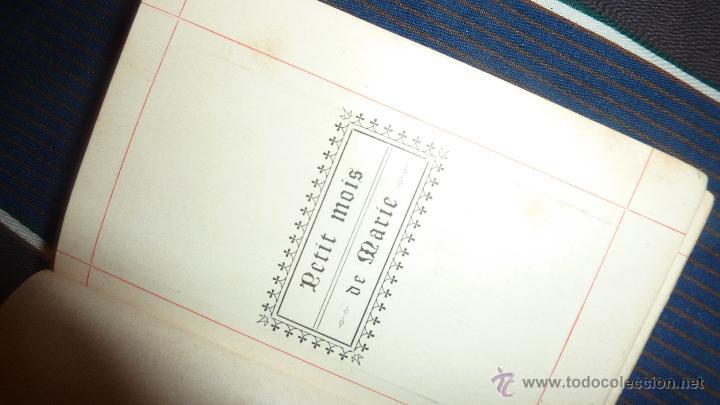 Libros antiguos: pequeño libro petit mois de marie mes de maria . gentelles 1893 - Foto 3 - 52563019