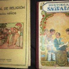 Libros antiguos: 2 LIBROS HISTORIA SAGRADA . LIBRERIA SALESIANA 1932 MANUAL RELIGION PARA NIÑOS AGUADO 1934 PICHLER. Lote 52588477
