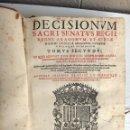 Libros antiguos: LIBRO DECISIONUM SACRI SENATUS REGII , REINO ARAGON , TOMO II , 1916 , PERGAMINO , ORIGINAL. Lote 52659164