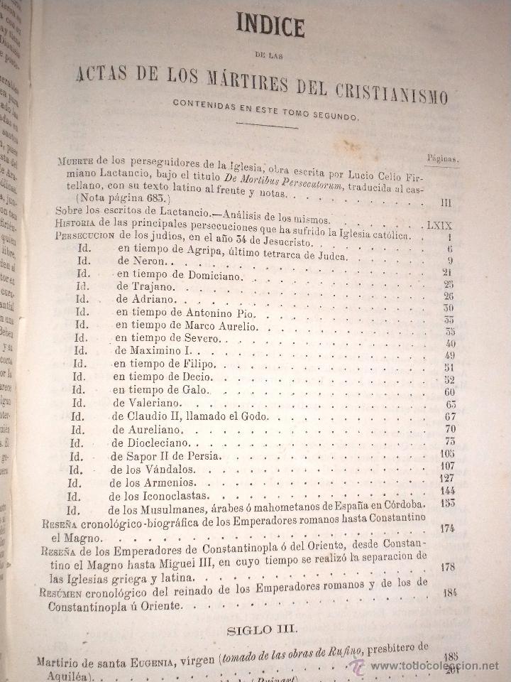 Libros antiguos: actas de los martires del cristianismo / Teodorico Ruinart. Antonio Galonio / 1864 - Foto 17 - 52960285