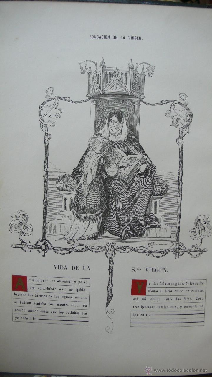 Libros antiguos: VIDA DE LA SMA. VIRGEN. M. ANA MARÍA. ILUSTRADA CON DIBUJOS AL ESTILO DE LOS ANTIGUOS MISALES. 1847. - Foto 3 - 53002533