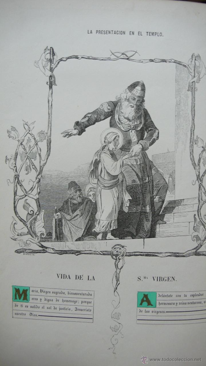 Libros antiguos: VIDA DE LA SMA. VIRGEN. M. ANA MARÍA. ILUSTRADA CON DIBUJOS AL ESTILO DE LOS ANTIGUOS MISALES. 1847. - Foto 5 - 53002533
