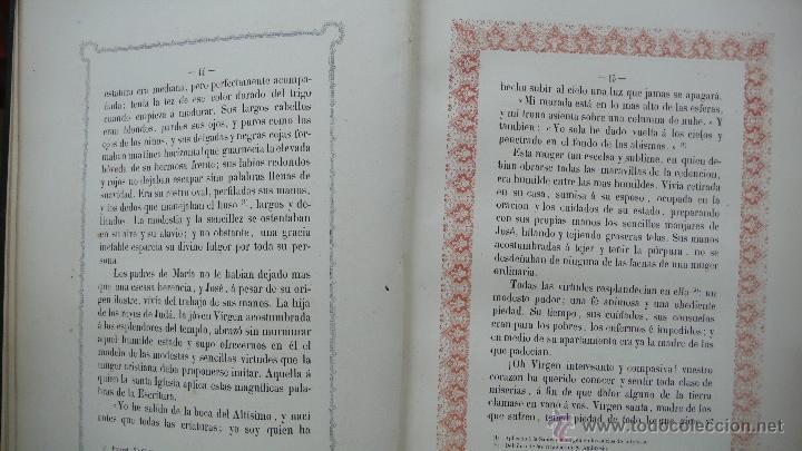 Libros antiguos: VIDA DE LA SMA. VIRGEN. M. ANA MARÍA. ILUSTRADA CON DIBUJOS AL ESTILO DE LOS ANTIGUOS MISALES. 1847. - Foto 6 - 53002533