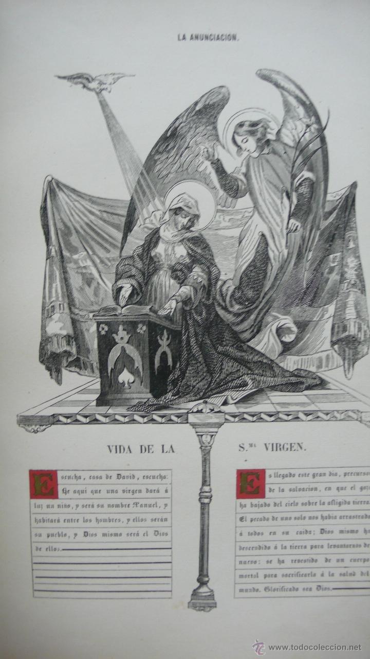 Libros antiguos: VIDA DE LA SMA. VIRGEN. M. ANA MARÍA. ILUSTRADA CON DIBUJOS AL ESTILO DE LOS ANTIGUOS MISALES. 1847. - Foto 7 - 53002533