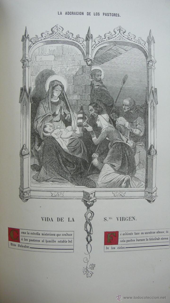 Libros antiguos: VIDA DE LA SMA. VIRGEN. M. ANA MARÍA. ILUSTRADA CON DIBUJOS AL ESTILO DE LOS ANTIGUOS MISALES. 1847. - Foto 8 - 53002533
